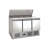 REFRIGERATED SALADETTE FC FOR GN CONTAINERS - POLYETHYLENE TOP - 3 DOORS