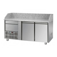 REFRIGERATED COUNTER FOR PIZZERIA GN 1/1 TD LINE - 150 cm 2 DOORS + 1 DRAWER (MOT. SX)