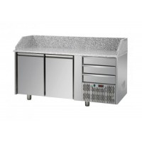 REFRIGERATED COUNTER FOR PIZZERIA GN 1/1 TD LINE - 150 cm 2 DOORS + 3 DRAWERS