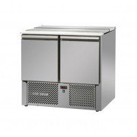 REFRIGERATED SALADETTE TD WITH STAINLESS STEEL COVER - 2 DOORS
