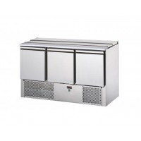 REFRIGERATED SALADETTE TD WITH STAINLESS STEEL COVER - 3 DOORS