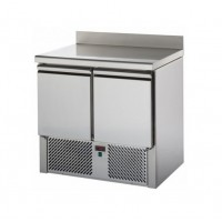 REFRIGERATED SALADETTE TD WITH STAINLESS STEEL TOP + BACK - 2 DOORS