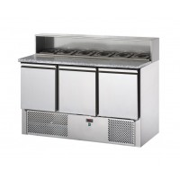 REFRIGERATED SALADETTE TD WITH GRANITE TOP AND TRAY HOLDER - 3 DOORS