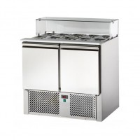 REFRIGERATED SALADETTE TD WITH TRAY AND FLAT GLASS DOOR - 2 DOORS