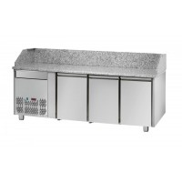 REFRIGERATED COUNTER FOR PIZZERIA GN 1/1 TD LINE - 200 cm 3 DOORS + 1 DRAWER (MOT. SX)