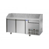 REFRIGERATED COUNTER FOR PIZZERIA GN 1/1 TD LINE - 150 cm 2 DOORS + 1 DRAWER