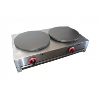 CREPIERA PROFESSIONAL DOUBLE GAS cooker - PLATES 40 cm