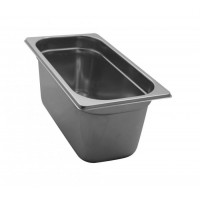 STAINLESS STEEL GASTRONORM BASIN GN 1/3 HEIGHT 15 cm