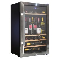 WINE FRIDGE CELLAR 60 BOTTLES 4 WOODEN DRAWERS
