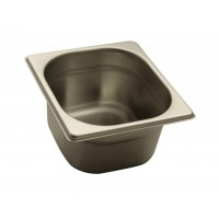 STAINLESS STEEL GASTRONORM BASIN GN 1/6 HEIGHT 10 cm