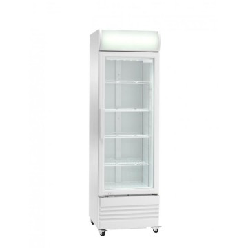REFRIGERATOR FOR GLASS DOORS WITH GLASS DOOR AKE SERIES WITH WHEELS - 252 LITERS