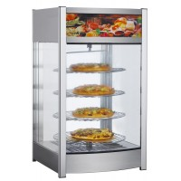 HEATED COUNTER DISPLAY CABINET - 4 ROTATING SHELVES