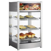 MID HEATED COUNTER DISPLAY CABINET - 3 SHELVES