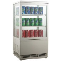 SHOWCASE FRIDGE COUNTER DISPLAY 4 SIDES AM SERIES - 58 LITERS