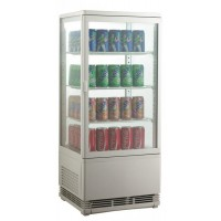 SHOWCASE FRIDGE COUNTER DISPLAY 4 SIDES AM SERIES - 78 LITERS