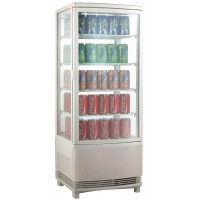 SHOWCASE FRIDGE COUNTER DISPLAY 4 SIDES AM SERIES - 98 LITERS v2