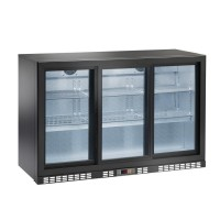 REFRIGERATED SHOWCASE BACK BAR AM SERIES - 3 SLIDING DOORS