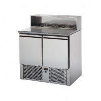 TD REFRIGERATED SALADETTE WITH GRANITE TOP AND TRAY HOLDER - 2 DOORS