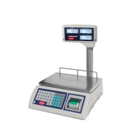 ELECTRONIC SCALES FOR SHOPS WITH A PRINTER - DISPLAY-COLUMN - PORT. 6 Kg - DIV. 1-2 gr
