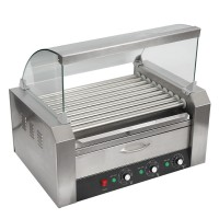 MACHINE HEAT HOT DOGS - HOT DOGS - SAUSAGES PROFESSIONAL 9 REELS + COVER AND TRAY