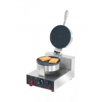 PLATE WAFFLE SINGLE PROFESSIONAL - 1 WAFFEL ROUND / 4 CLOVES
