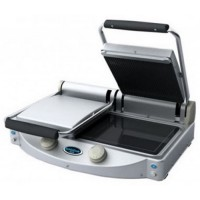 DOUBLE GLASS CERAMIC PLATE WITH STRIPED TOPS - MANUAL CONTROLS - 2 KW