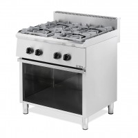 PROFESSIONAL GAS COOKER 204ST EUROCHEF 4 BURNERS WITH PILOT FLAME