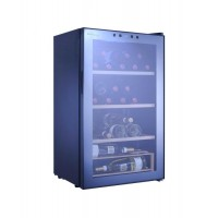 WINE FRIDGE CELLAR 40 BOTTLES 3 + 1 WOODEN DRAWERS