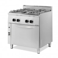 4 BURNERS PROFESSIONAL GAS COOKER + OVEN