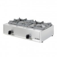 PROFESSIONAL GAS STOVE 202K EUROCHEF 2 BURNERS - CAST IRON GRID