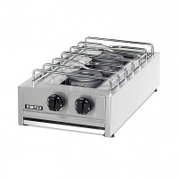 PROFESSIONAL GAS STOVE 202S EUROCHEF 2 BURNERS - CHROME GRID