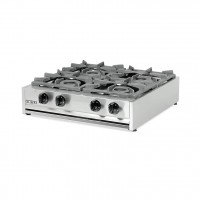 PROFESSIONAL GAS STOVE 204M EUROCHEF 4 BURNERS - CAST IRON GRID