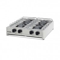 PROFESSIONAL GAS STOVE 204S EUROCHEF 4 BURNERS - CHROME GRID