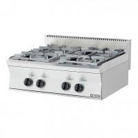 PROFESSIONAL GAS STOVE 204ST EUROCHEF 4 BURNERS WITH PILOT FLAME