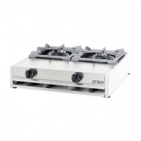 PROFESSIONAL GAS STOVE 302A / M 2 BURNERS - CAST IRON GRID