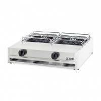 PROFESSIONAL GAS STOVE 302A / S 2 BURNERS - CHROME GRID