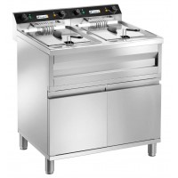 ELECTRIC FRYER ON MOBILE FC120M - 2 TANKS 12 + 12 LITERS