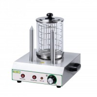 MACHINE FOR HOT DOG YHK02A WURSTEL COOKER + 2 STEMS BREAD WARMER