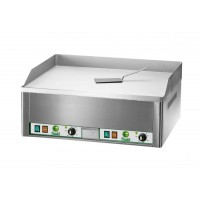 DOUBLE ELECTRIC FRY TOP PLATE FRY2LR - SMOOTH CHROME PLAN