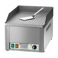 SINGLE ELECTRIC FRY TOP PLATE FRY1RC - CHROME STRIPED TOP