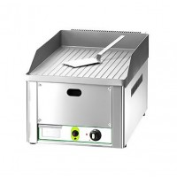SINGLE ELECTRIC FRY TOP PLATE FRY1RMC - CHROME STRIPED TOP