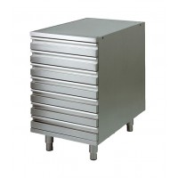 CHEST OF DRAWERS IN STAINLESS STEEL CONTAINERS DOUGH PIZZA