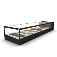 SHOWCASE FRIDGE COUNTER DISPLAY SAYL LOGIC TAPAS VTLG4 - 4 x GN 1/3