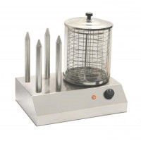 MACHINE FOR HOT DOG SH4 COOKING WURSTEL + 4 STEMS WARMER BREAD