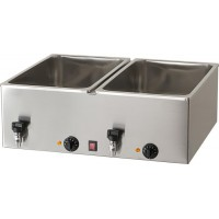 DOUBLE BAIN MARIE BM216R 2000W BOWL FOR 2 GN 1/1 CONTAINER