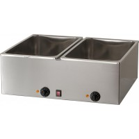 DOUBLE BAIN MARIE BM221 2000W BOWL FOR 2 GN 1/1 CONTAINER