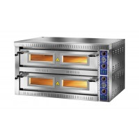 ELECTRIC OVEN FOR PIZZERIA BICAMERA model SB 6 + 6G FOR 12 PIZZAS