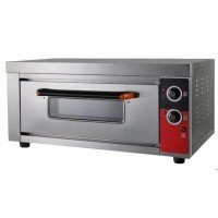 ELECTRIC PIZZA OVEN SILVER ITALIA SINGLE CHAMBER FOR 2 PIZZAS