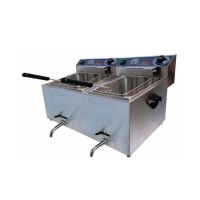 DOUBLE TANK 11 + 11 LITERS ELECTRIC COUNTERTOP FRYER