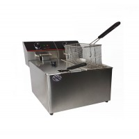 ELECTRIC DEEP FRYER COUNTER PROFESSIONAL DOUBLE 4+4 LITERS 2000+2000W